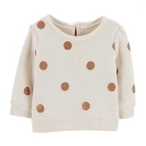 OSHKOSH B'GOSH   Polka Dot Fleece Sweater